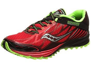 Saucony Peregrine 4 Men's Shoes Red/Black/Green