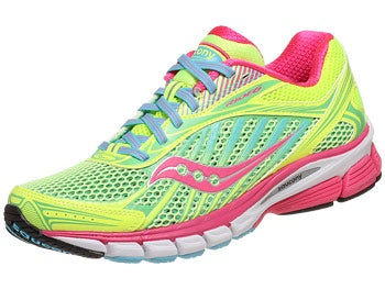 Saucony Ride 6 Women's Shoes Citron/Pink/Blue