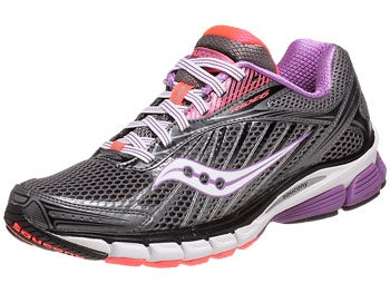 Saucony Ride 6 Women's Shoes Grey/Purp/Vizi Coral