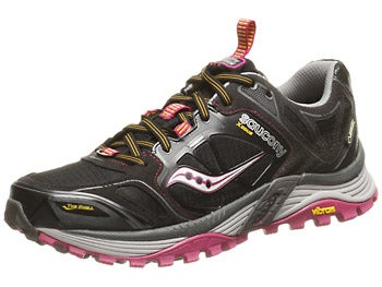 Saucony Xodus 4.0 GTX Women's Shoes Blk/Pur/Yel