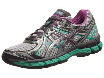 ASICS GT 2000 2 Trail Womens Shoes Ti/Pu/Emld