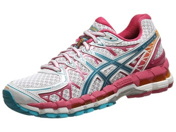 ASICS Gel Kayano 20 Womens Shoes White/Gulf/Berry