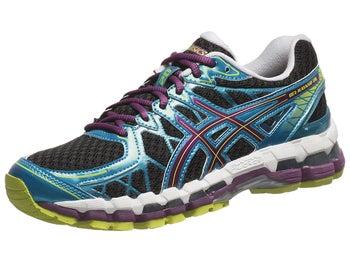 ASICS Gel Kayano 20 Womens Shoes Black/Plum/Blue