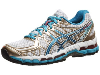 ASICS Gel Kayano 20 Womens Shoes White/Blue/Melon