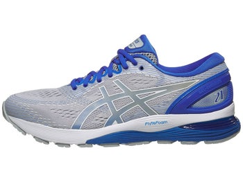 aabaa8bb5cf ASICS Gel Nimbus 21 Lite-Show Men s Shoes Mid Grey Blue