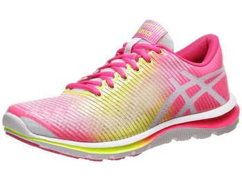 ASICS Gel Super J33 Womens Shoes White/Yellow/Pink