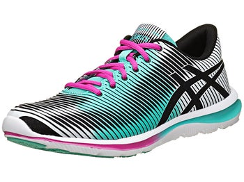 ASICS Gel Super J33 Womens Shoes Black/Mint/Pink