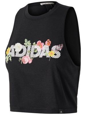 fe1ac55500a83 adidas Women's Floral Crop Black