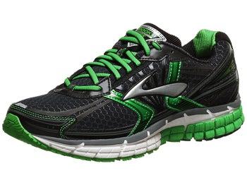 Brooks Adrenaline GTS 14 Mens Shoes Black/Grn/Sil