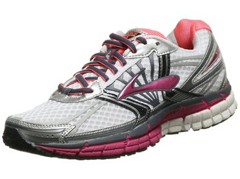 Brooks Adrenaline GTS 14 Womens Shoes White/Fuchsia