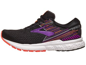 bca14184d02 Brooks Adrenaline GTS 19 Women s Shoes Black Purple
