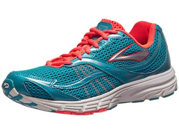 Brooks Launch Womens Shoes Caribbean/Silver/Coral