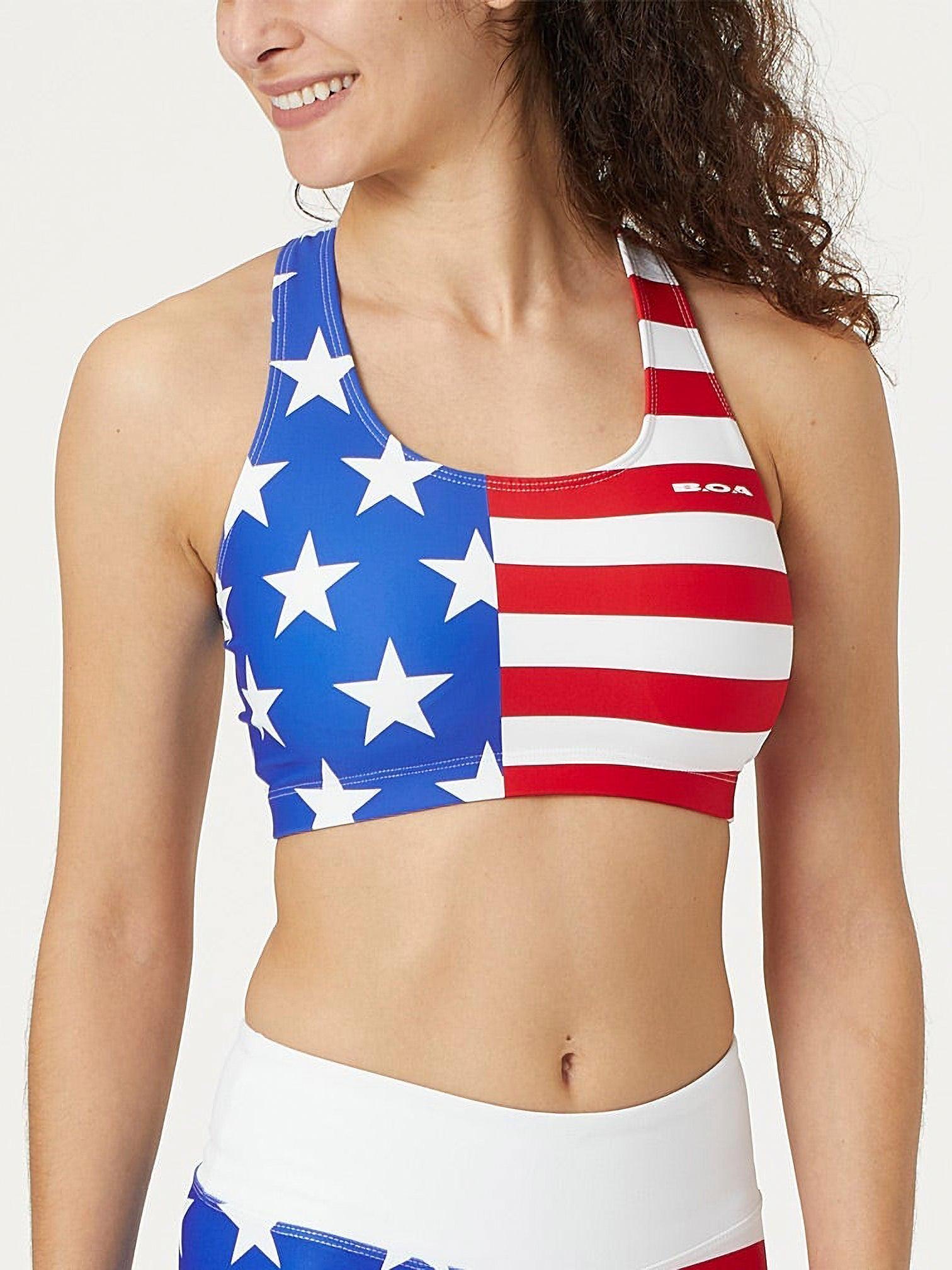 BOA Womens Flag Sports Bra BTD05US