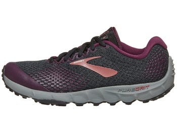 29bdd0bcaa468 Brooks PureGrit 7 Women s Shoes Black Purple Grey