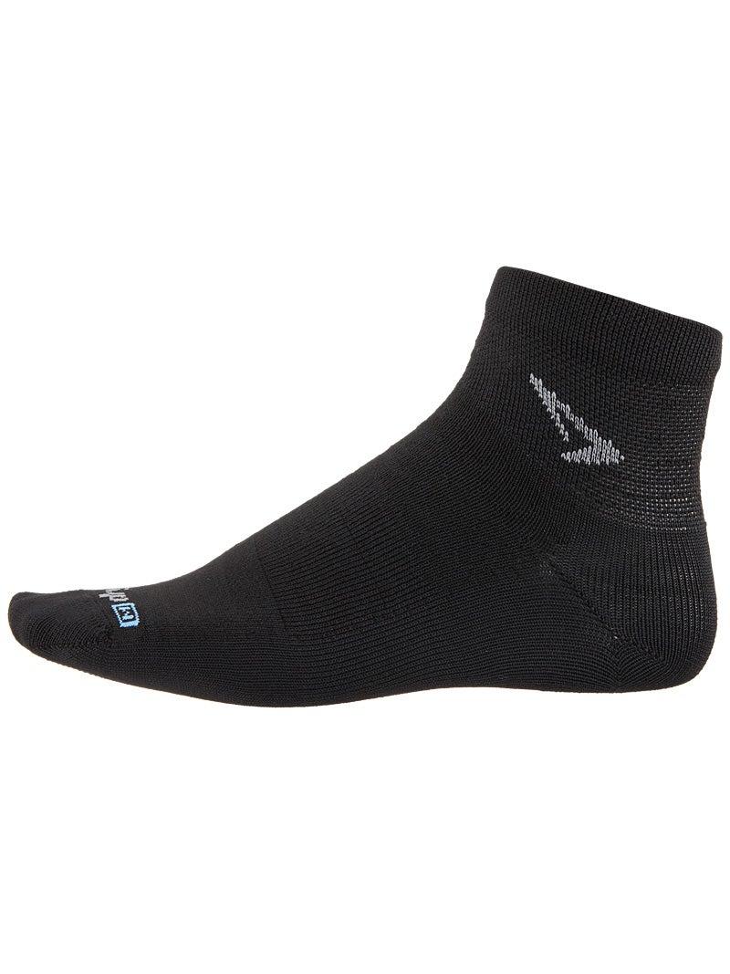 Drymax Run 1//4 Crew Low Socks White//Grey Large