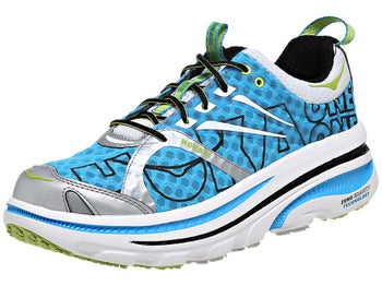 HOKA Bondi 2 Mens Shoes Cyan/White/Lime