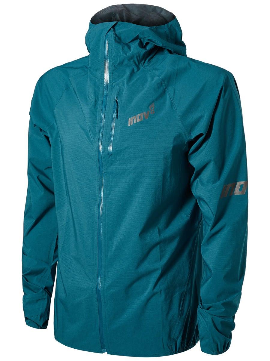 Inov8 Mens Windshell Full Zip Jacket Top Blue Sports Running Windproof