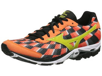 Mizuno Wave Elixir 8 Mens Shoes Orange/Lime/Anth