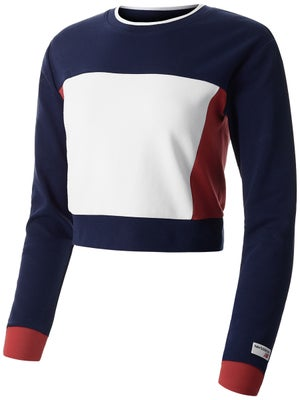 7830a100c21ed Click for larger view. New Balance Women's Spring Athletics Long Sleeve Crop  ...
