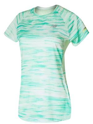 1f51054d619 New Balance Women s Printed Ice 2.0 Short Sleeve