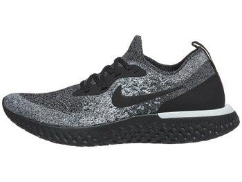 Nike Epic React Flyknit Women s Shoes Black Black White aeee597f233