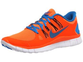 Nike Free 5.0+ Mens Shoes Orange/Black/Blue