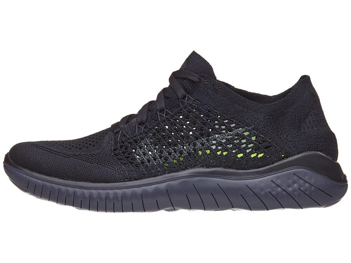 Nike Free Rn Flyknit 2018 Women S Shoes Black Anth