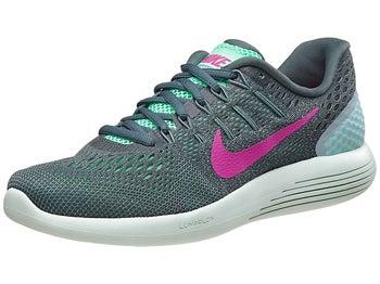 Nike LunarGlide 8 Women's Shoes Green Glow/Fire Pink