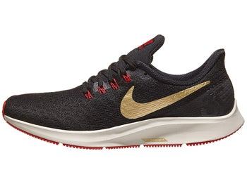 new style ae385 d17ed Nike Zoom Pegasus 35 Men s Shoes Black Gold Red