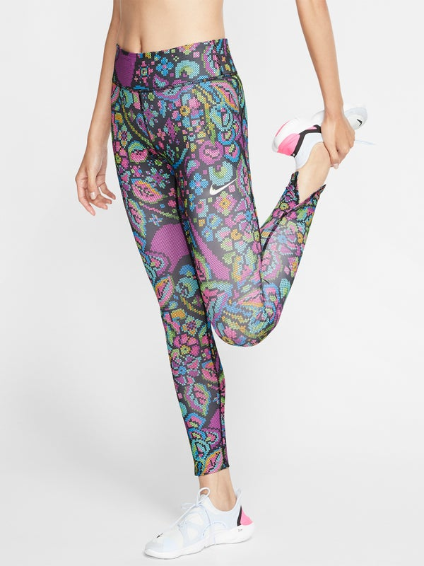 new collection amazon quality products Nike Women's Fall Fast Femme Print Tight Black