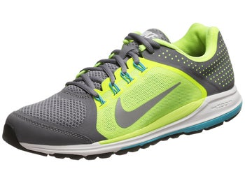 Nike Zoom Elite+ 6 Mens Shoes Grey/Volt/Blue/Silver