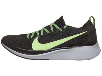 cc49d2b0eb60 Nike Zoom Fly Flyknit Men s Shoes Black Lime Grey