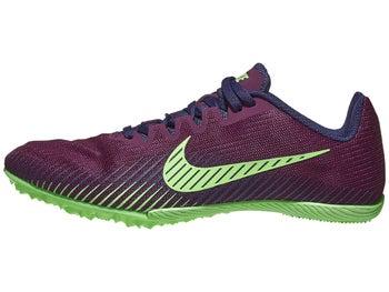 e2cbb6a5aabcc Nike Zoom Rival M 9 Men's Spikes Bordeaux/Purple/Lime