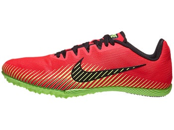 a9195135a0865 Nike Zoom Rival M 9 Men s Spikes Red Orbit Lime Black