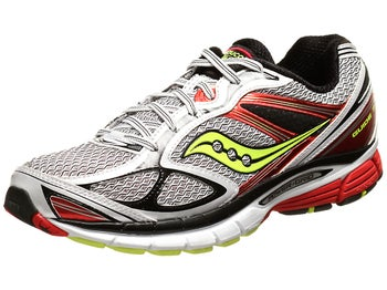 Saucony Guide 7 Mens Shoes White/Red/Citron