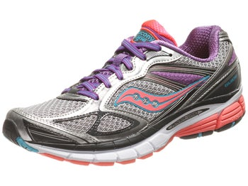 Saucony Guide 7 Womens Shoes Silver/ViziCoral/Purple
