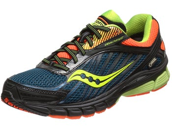 Saucony Ride 6 GTX Mens Shoes Blue/Orange/Citron