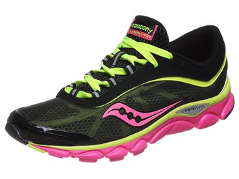 Saucony Virrata Womens Shoes Black/Citron/Pink