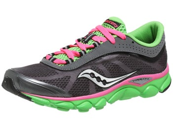 Saucony Virrata Womens Shoes Grey/Green/Pink