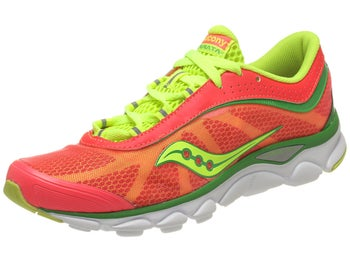 Saucony Virrata Womens Shoes Coral/Green/Citron